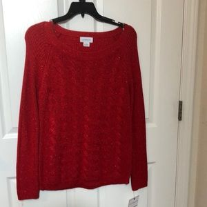 APT 9 sweater , size large, red